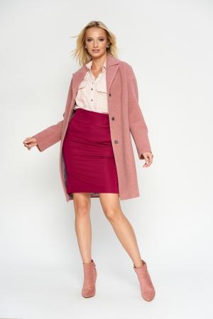 Пальто Орнелла, деми, розовый