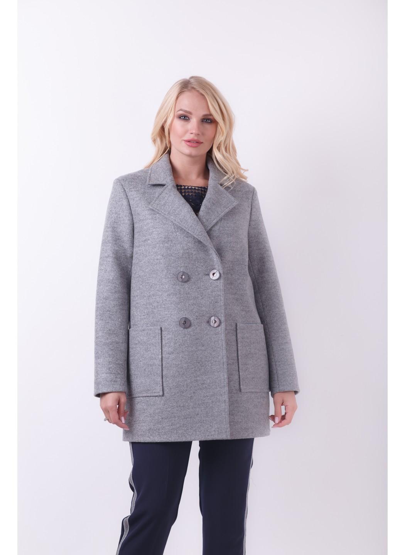 Пиджак Виктория, деми, шерсть, серый 01