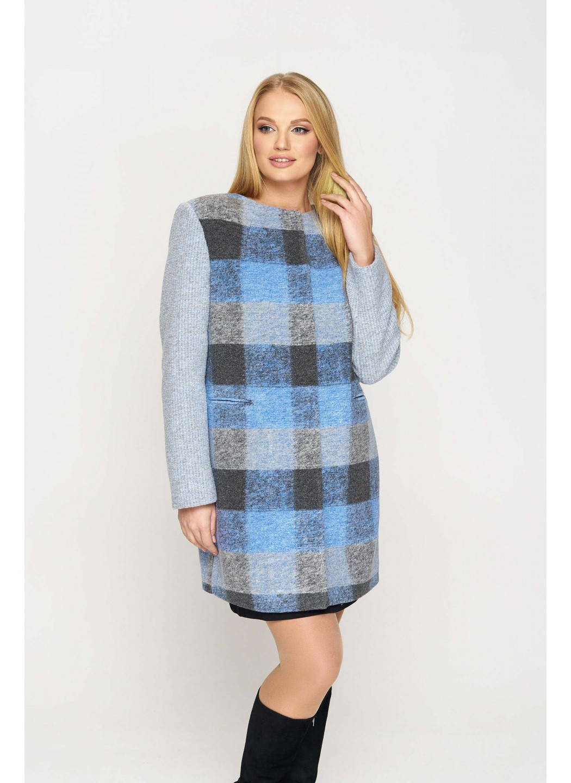 Женское Демисезонное Пальто Вояж Шерсть Серо - голубой купить в Украине: фото, цена, характеристики, отзывы