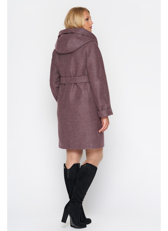 Женское Демисезонное Пальто Марго с капюшоном Шерсть Ягода купить в Украине: фото, цена, характеристики, отзывы - фото 2