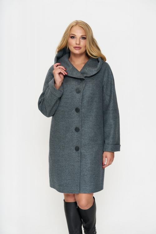 Женское Зимнее Пальто Марго с капюшоном Шерсть Оливковый