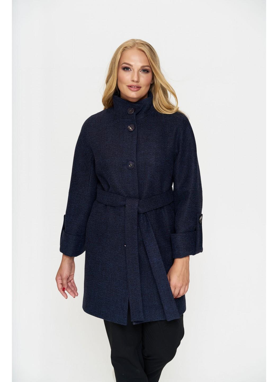 Пальто Шарлотта, деми, шерсть, тёмно - синий  купить в Украине: фото, цена, характеристики, отзывы - фото 2