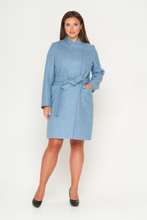 Пальто Венеция, шерсть, голубой