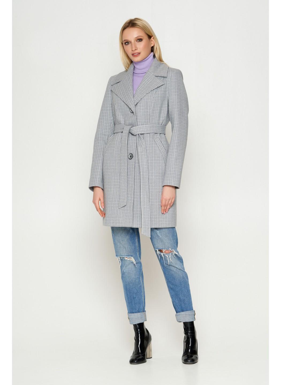 Пальто Влада, деми, клетка, серый купить в Украине: фото, цена, характеристики, отзывы - фото 2