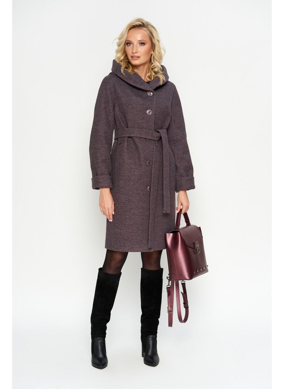 Пальто Лора, зима, джени, розовый