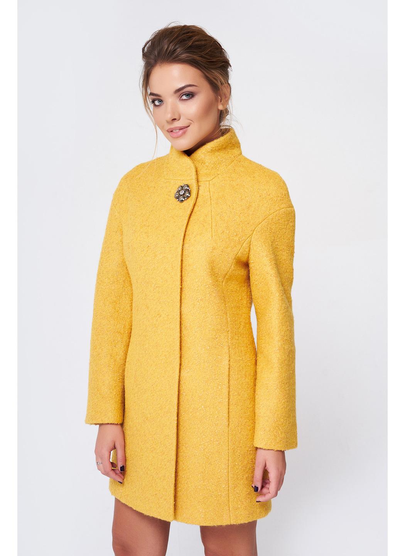 Пальто Меланка, деми, букле, желтый купить в Украине: фото, цена, характеристики, отзывы - фото 1