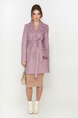 Пальто Лондон, деми, ш/е, розовый