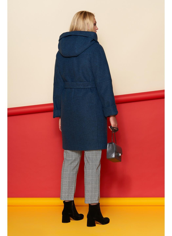 Женское Зимнее Пальто Марго с капюшоном Шерсть Тёмно - синий купить в Украине: фото, цена, характеристики, отзывы - фото 2