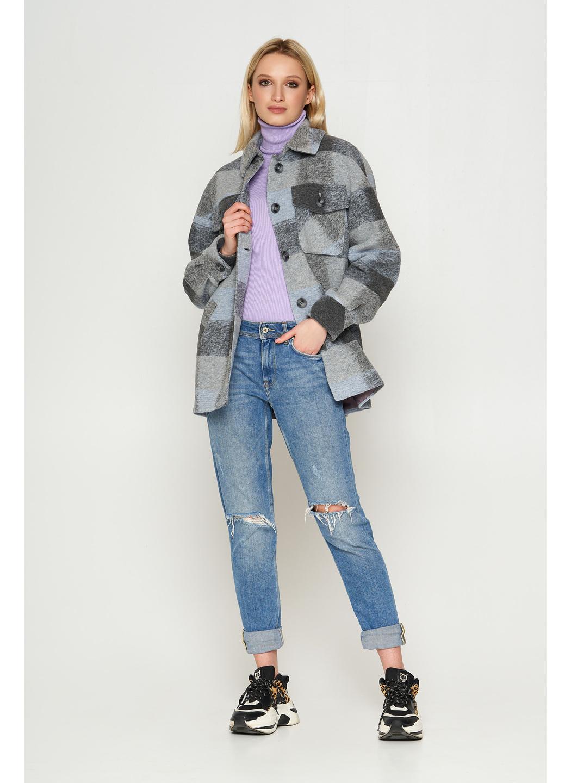 Пальто Сабина, деми, клетка, голубой 33 купить в Украине: фото, цена, характеристики, отзывы - фото 1