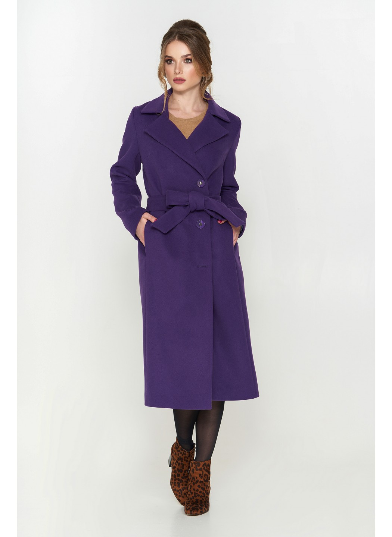 Пальто Мария, кашемир, фиолетовый
