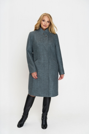 Женское Зимнее Пальто Беата Шерсть Оливковый
