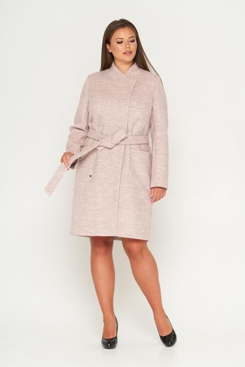 Женское Демисезонное Пальто Венеция Шерсть Бежевый