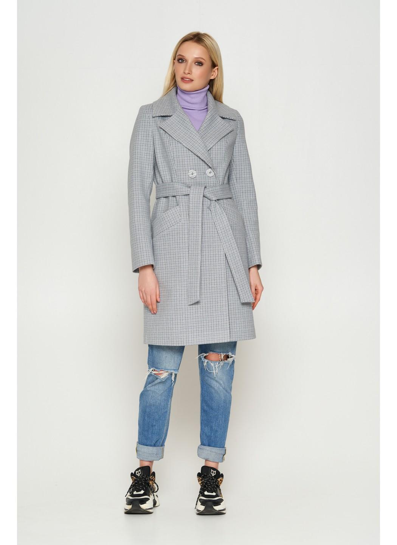 Женское Демисезонное Пальто Нонна Кашемир Клетка Светло-серый купить в Украине: фото, цена, характеристики, отзывы - фото 1