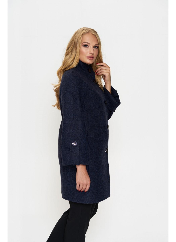 Пальто Шарлотта, деми, шерсть, тёмно - синий  купить в Украине: фото, цена, характеристики, отзывы - фото 3