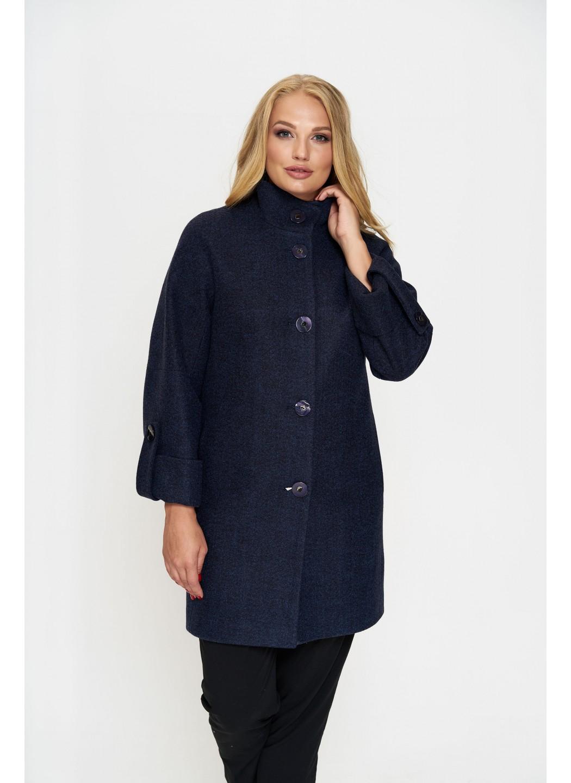 Пальто Шарлотта, деми, шерсть, тёмно - синий  купить в Украине: фото, цена, характеристики, отзывы - фото 1