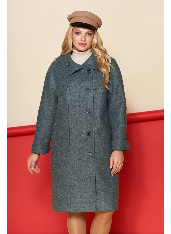 Пальто Лилия, шерсть, зима, оливковый купить в Украине: фото, цена, характеристики, отзывы - фото 2