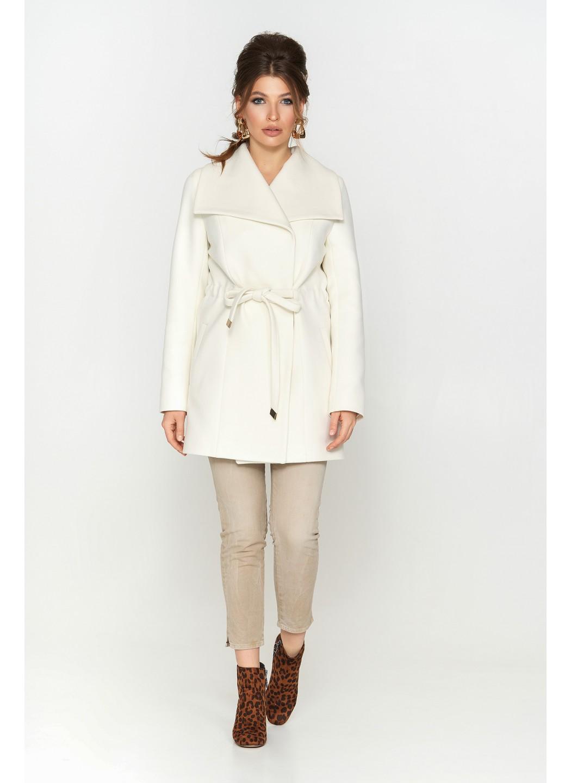 Женское Демисезонное Пальто Мадрид Кашемир Белый купить в Украине: фото, цена, характеристики, отзывы - фото 1