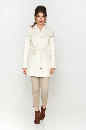Пальто Мадрид, деми, кашемир, белый