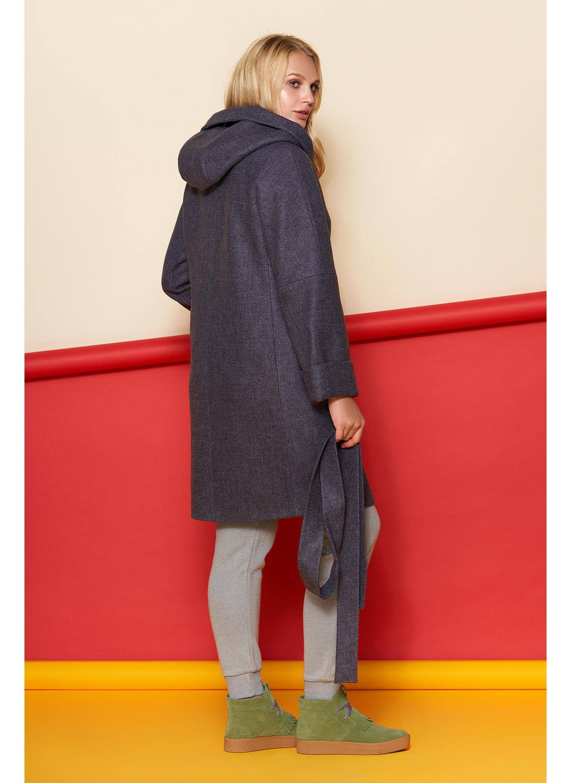 Пальто Марго, зима, шерсть, фиолетовый