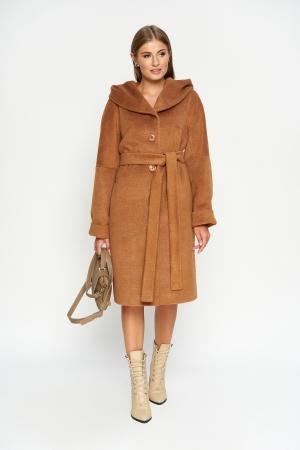 Пальто Лора, зима, camel