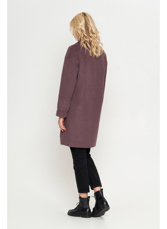 Женское Демисезонное Пальто Орнелла Шерсть Фиолет купить в Украине: фото, цена, характеристики, отзывы - фото 2