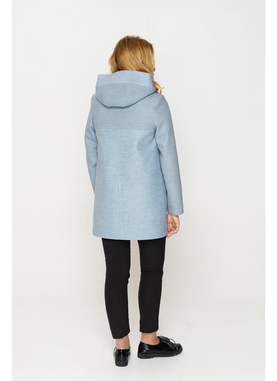 Женское Демисезонное Пальто Кэти с капюшоном Шерсть Голубой купить в Украине: фото, цена, характеристики, отзывы - фото 2