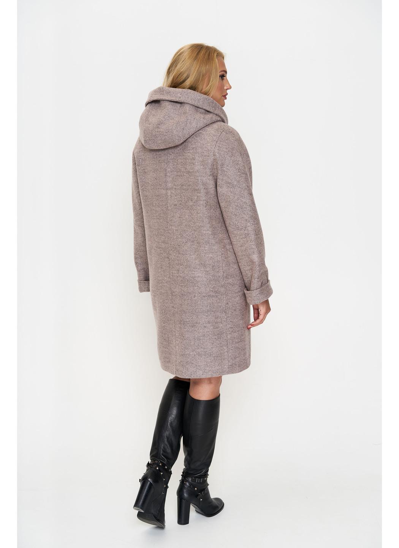 Женское Зимнее Пальто Марго с капюшоном Шерсть Розовый купить в Украине: фото, цена, характеристики, отзывы - фото 2