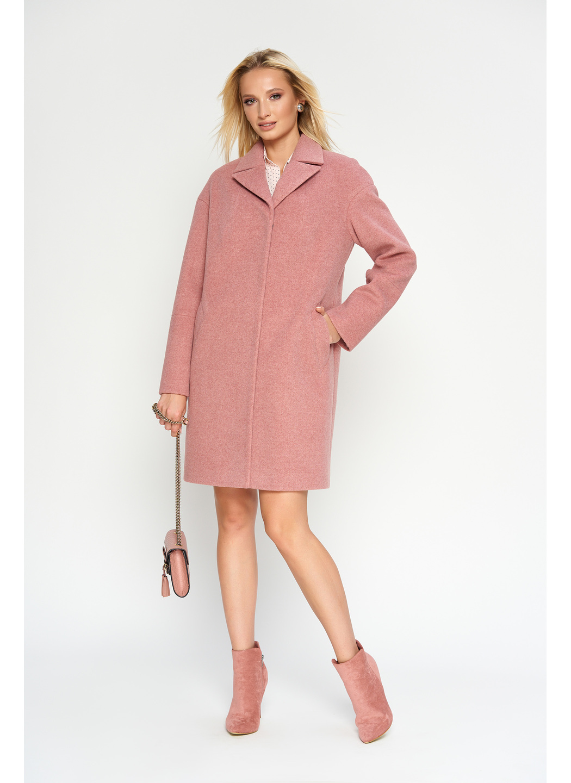 Женское Демисезонное Пальто Орнелла Шерсть Розовый купить в Украине: фото, цена, характеристики, отзывы - фото 3
