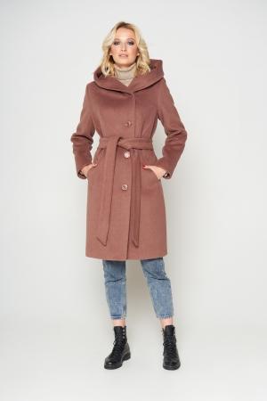 Пальто Варшава, зима, шерсть, кофе