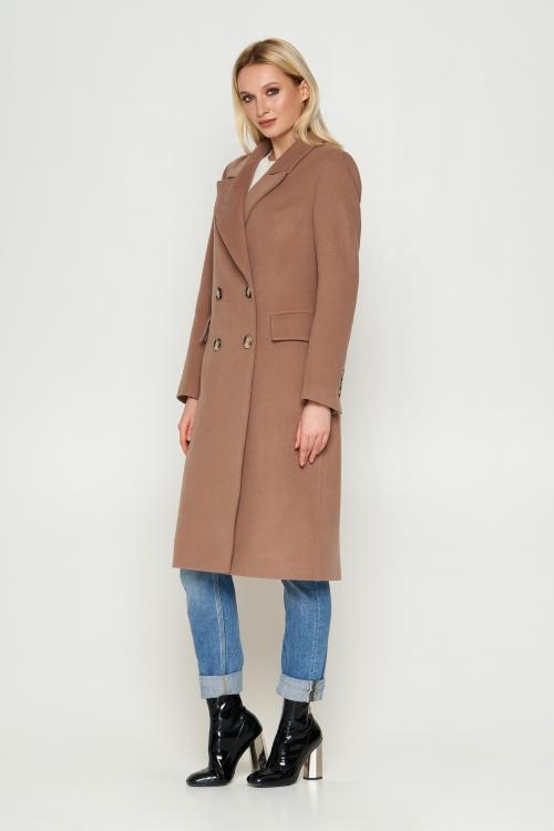 Женское Демисезонное Пальто Монако Кашемир Капучино длинное