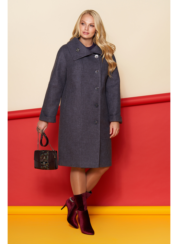 Пальто Лилия, шерсть, зима, фиолетовый купить в Украине: фото, цена, характеристики, отзывы - фото 1