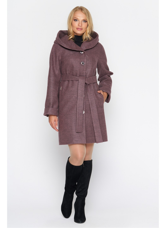 Женское Демисезонное Пальто Марго с капюшоном Шерсть Ягода купить в Украине: фото, цена, характеристики, отзывы - фото 1