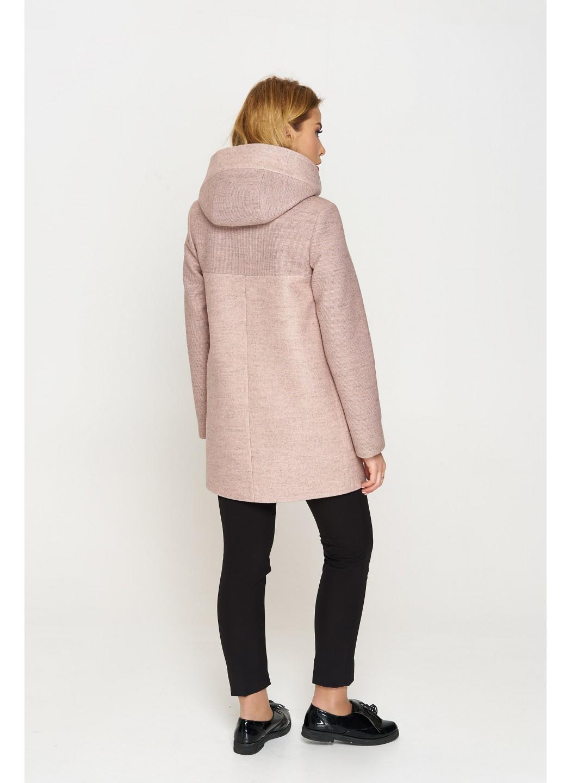 Женское Демисезонное Пальто Кэти с капюшоном Шерсть Пудра купить в Украине: фото, цена, характеристики, отзывы - фото 3