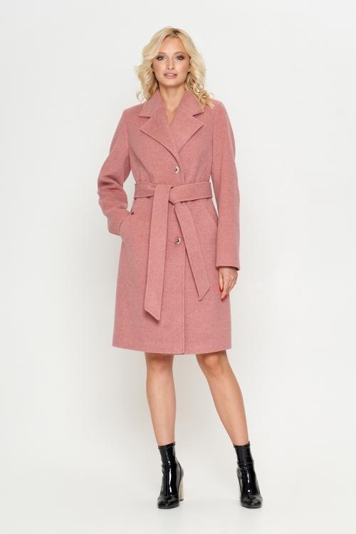 Пальто Лия, деми, розовый