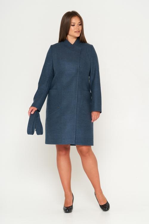 Женское Демисезонное Пальто Венеция Шерсть Морская волна