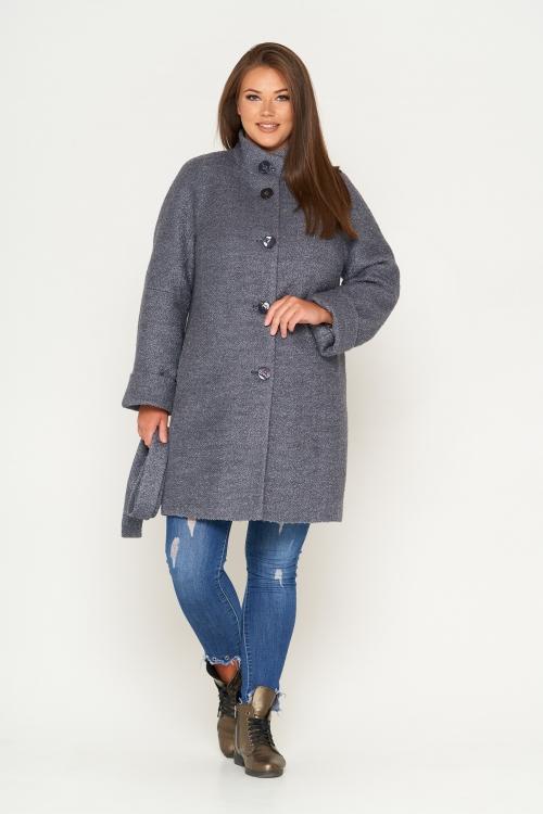 Женское Зимнее Пальто Шарлотта Букле Серый