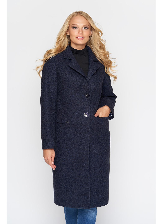 Женское Демисезонное Пальто Фиджи Шерсть Тёмно-синий Длинное купить в Украине: фото, цена, характеристики, отзывы