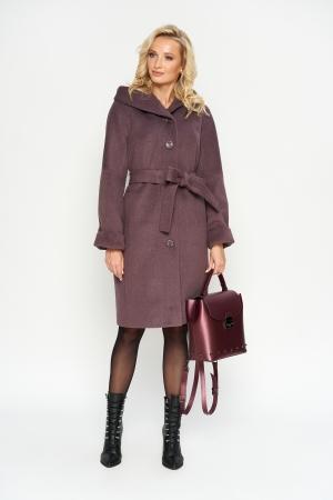 Пальто Лора, деми, фиолет