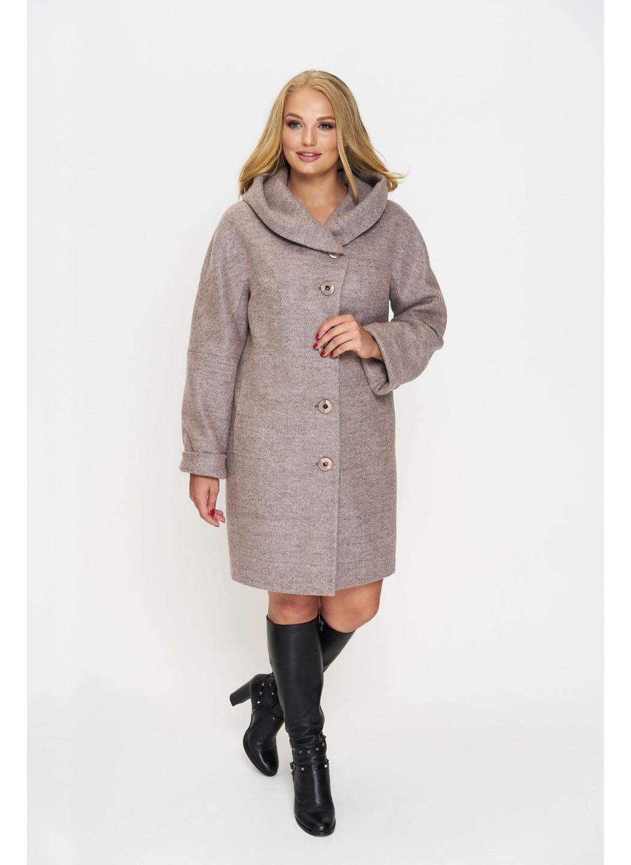 Женское Зимнее Пальто Марго с капюшоном Шерсть Розовый купить в Украине: фото, цена, характеристики, отзывы - фото 1