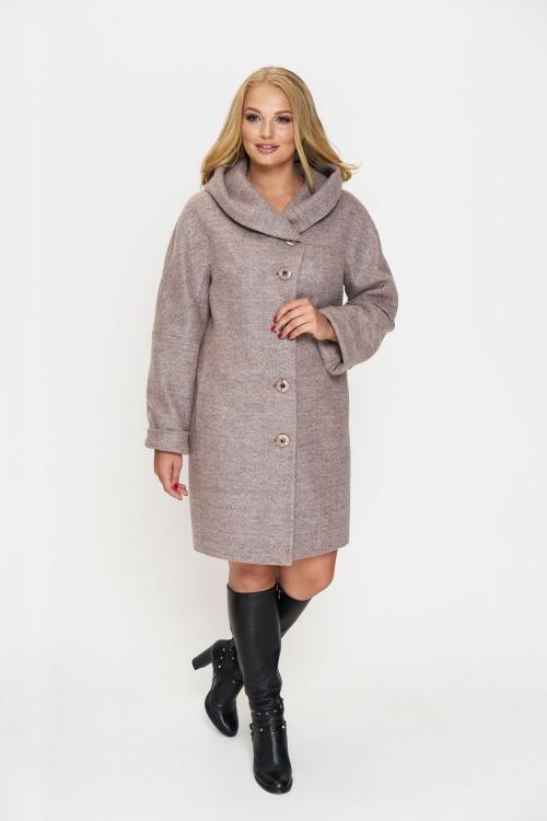Женское Зимнее Пальто Марго с капюшоном Шерсть Розовый