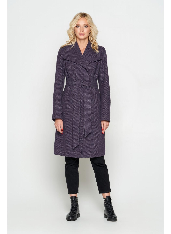 Пальто Валерия, диагональ, фиолет купить в Украине: фото, цена, характеристики, отзывы - фото 1