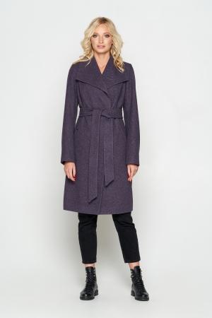 Пальто Валерия, диагональ, фиолет