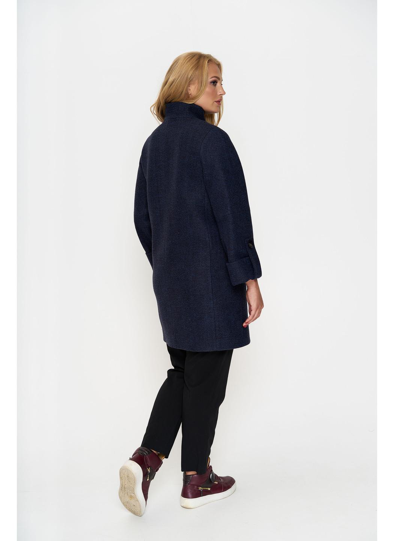 Пальто Шарлотта, деми, шерсть, тёмно - синий  купить в Украине: фото, цена, характеристики, отзывы - фото 4