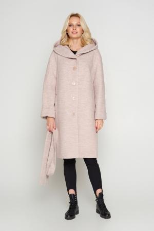 Пальто Лора, зима, бежевый 800