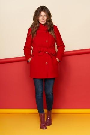 Пальто Братислава, зима, кашемир, красный