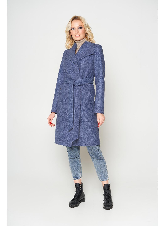 Пальто Валерия, ш/е, темно-синий купить в Украине: фото, цена, характеристики, отзывы - фото 1