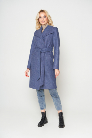 Пальто Валерия, ш/е, темно-синий