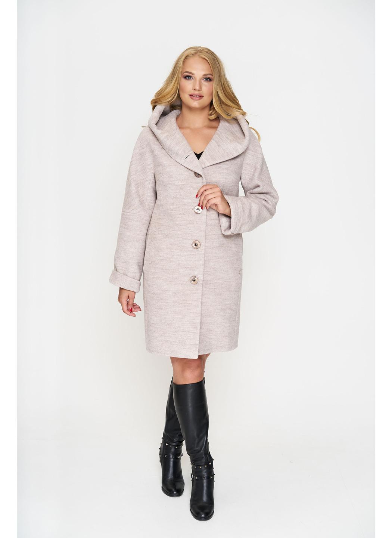 Женское Демисезонное Пальто Марго с капюшоном Шерсть Бежевый 800 купить в Украине: фото, цена, характеристики, отзывы - фото 1