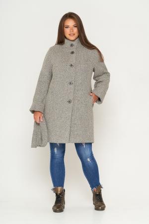 Пальто Шарлотта, зима, твид, темно-серый
