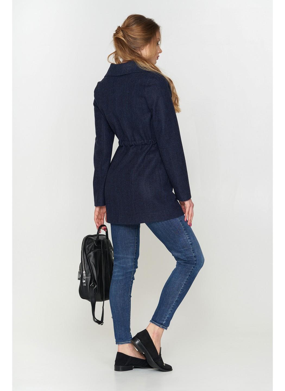 Женское Демисезонное Пальто Мадрид Шерсть Темно-синий купить в Украине: фото, цена, характеристики, отзывы - фото 2